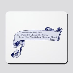 Clever Rumi Quote Mousepad