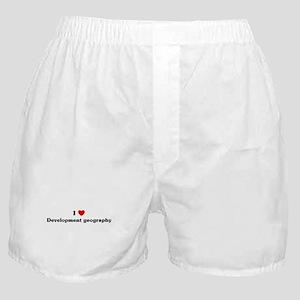 I Love Development geography Boxer Shorts