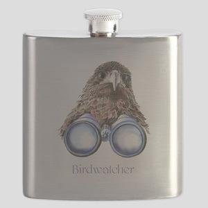 Birdwatcher Bird Watching You Humor Flask