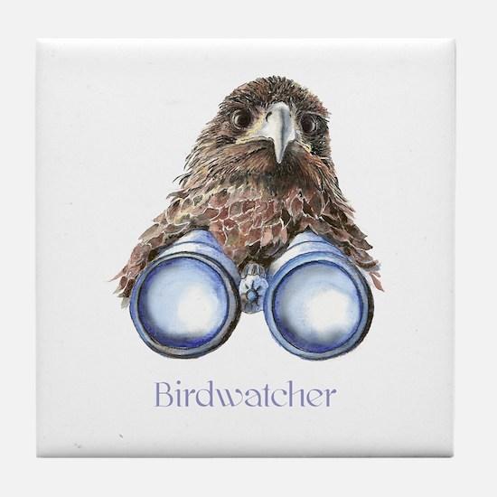 Birdwatcher Bird Watching You Humor Tile Coaster