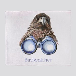 Birdwatcher Bird Watching You Humor Throw Blanket