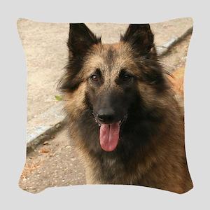 Belgian Shepherd Dog (Tervuren) Woven Throw Pillow