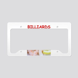 billiards License Plate Holder