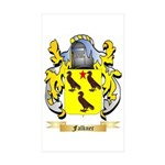 Falkner Sticker (Rectangle 50 pk)