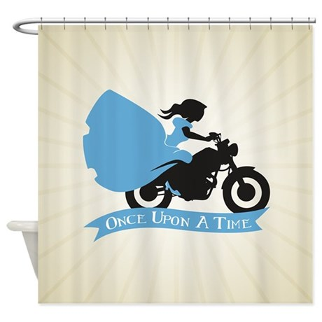 OUAT Ballgown Motorcycle Shower Curtain