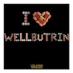 I Heart Wellbutrin Button Square Car Magnet 3