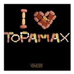I Heart Topamax Button Square Car Magnet 3
