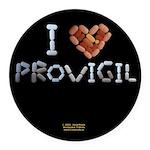 I Heart Provigil Button Round Car Magnet