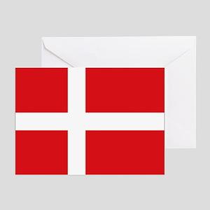Denmark flag Greeting Cards (Pk of 10)