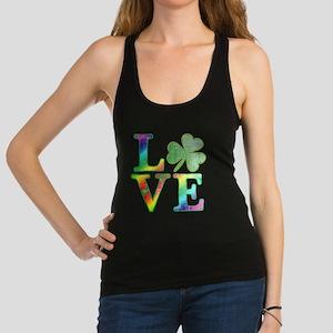 Irish Love Rainbow Colors Racerback Tank Top