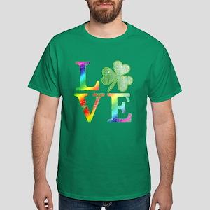 Irish Love Rainbow Colors Dark T-Shirt