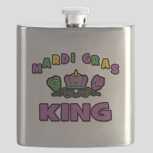Mardi Gras King Flask