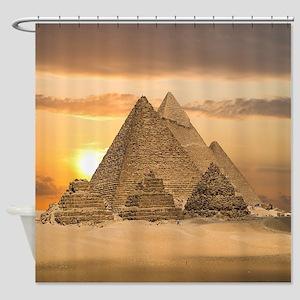 Giza Pyramids Shower Curtain