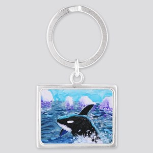 Killer Whale Painting Keychains