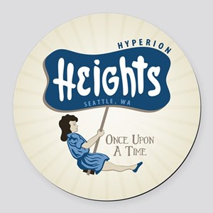 OUAT Hyperion Heights Retro Round Car Magnet