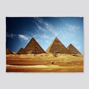 Giza Pyramids 5'x7'Area Rug