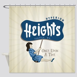 OUAT Hyperion Heights Retro Shower Curtain