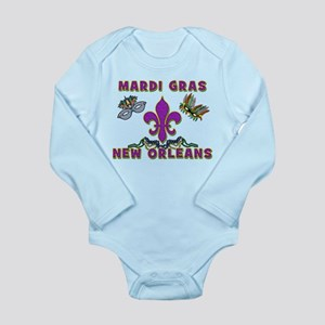 Mardi Gras New Orleans Long Sleeve Infant Bodysuit