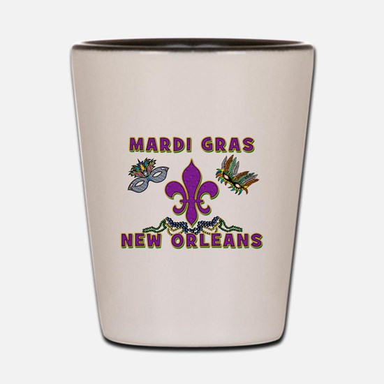Mardi Gras New Orleans Shot Glass