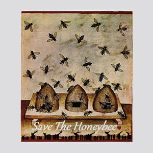 Save The Honeybee Throw Blanket