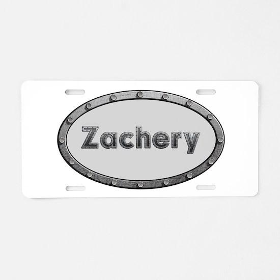 Zachery Metal Oval Aluminum License Plate