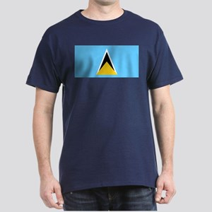 Saint Lucia Flag Dark T-Shirt