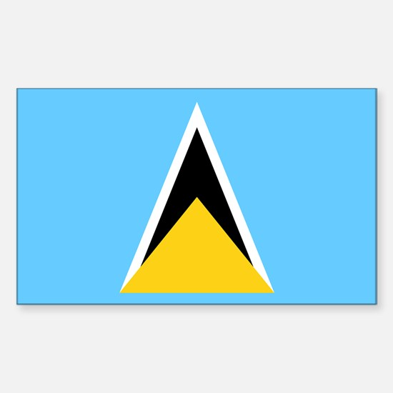 Saint Lucia Flag Sticker (Rectangle)