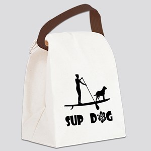 SUP Dog Standing Canvas Lunch Bag