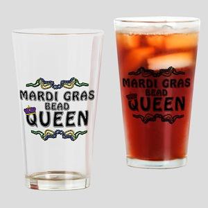Mardi Gras Queen Drinking Glass