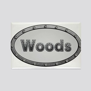 Woods Metal Oval Magnets