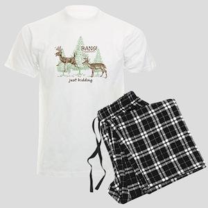 19a70b0ff2 Funny Deer Hunting Men s Pajamas - CafePress