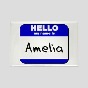 hello my name is amelia Rectangle Magnet