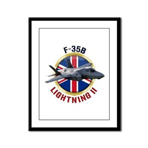 RAF F-35B Lightning II Framed Panel Print