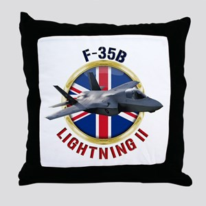 RAF F-35B Lightning II Throw Pillow