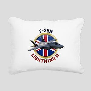 RAF F-35B Lightning II Rectangular Canvas Pillow