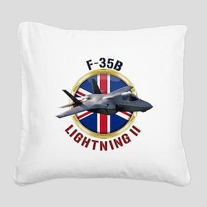 RAF F-35B Lightning II Square Canvas Pillow