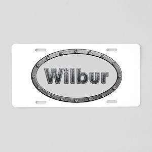 Wilbur Metal Oval Aluminum License Plate