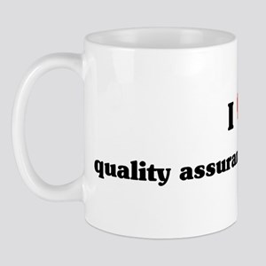 I Love quality assurance engi Mug
