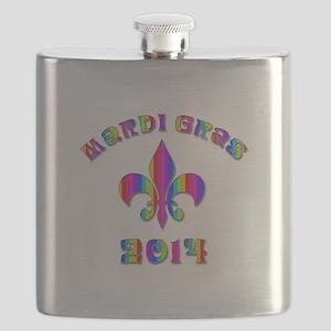 Mardi Gras New Orleans Flask