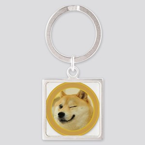 support buy me Square Keychain