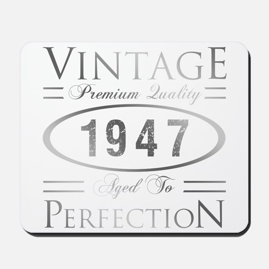 Vintage 1947 Birthday Mousepad