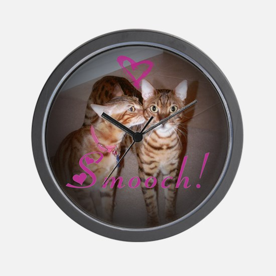 Kitty Smooch Wall Clock