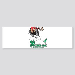 Snowmobile humor Bumper Sticker