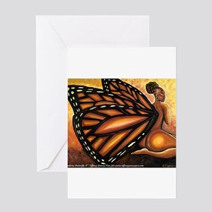 Madame Butterfly II Greeting Cards