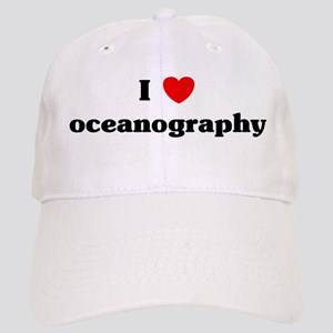 I Love oceanography Cap