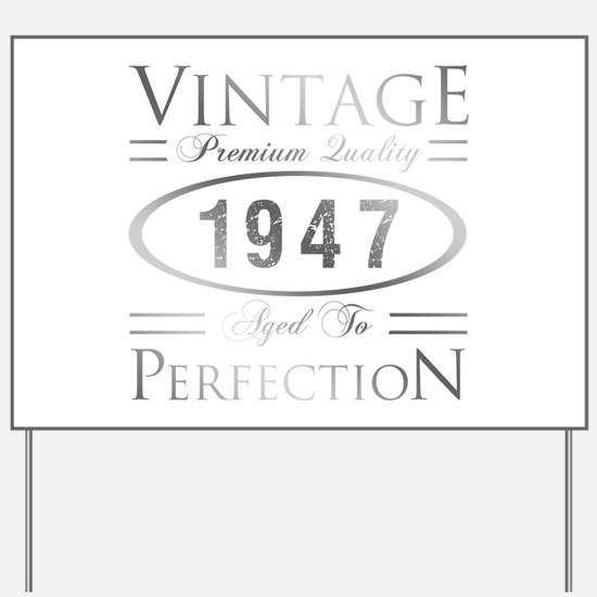 Vintage 1947 Birthday Yard Sign