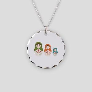 Matryoshka Russian Dolls Necklace