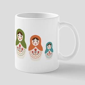 Matryoshka Russian Dolls Mugs