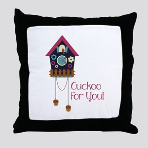cuckoo for you! Throw Pillow
