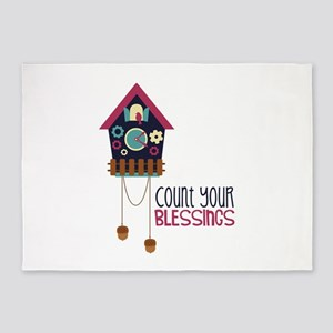 Count Your Blessincs 5'x7'Area Rug